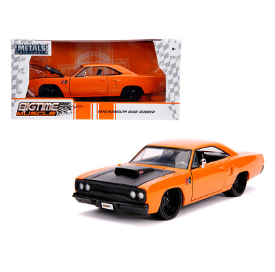 Jada Toys 31325 Bigtime Muscle 1970 Plymouth Road Runner Hurst 1:24 Scale • 26.99£