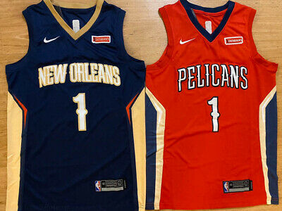$26.99 • Buy Zion Williamson #1 New Orleans Pelicans Mens Basketball Stitched RED/NAVY Jersey