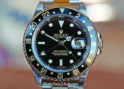 $ CDN13685.70 • Buy ROLEX MASTER GMT II TWO TONE STEEL & YELLOW GOLD BLACK DIAL, 16713, Box & Papers