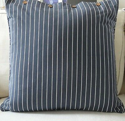 AU39.95 • Buy Charcoal & White  Fine Stripe Cushion Cover - 60 X 60 Cm Daybed Couch Floor