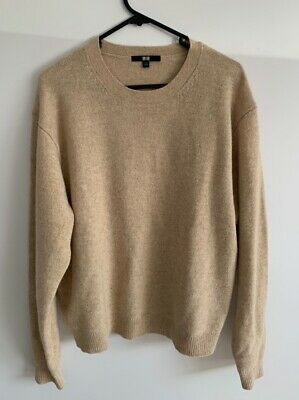 AU25 • Buy UNIQLO 100% Pure New Wool Long Sleeve Knit Jumper Size Large L