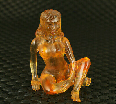 £69.99 • Buy Rare Chinese Exquisite Glaze Hand Carving Girl Statue Collectable Decoration
