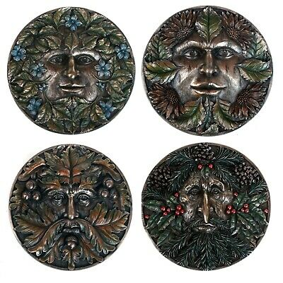 £14.99 • Buy Green Man Wall Plaques/ Hangings 4 Seasons: Pagan Wicca New Age