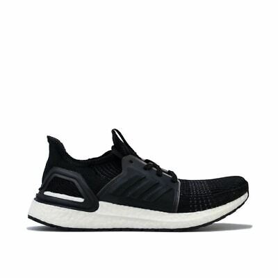 Women's Adidas UltraBOOST 19 Cushioned Supportive Running Shoes In Black • 93.94£