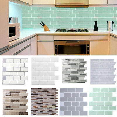 3D Kitchen Wall Tile Self-Adhesive Bathroom Mosaic Sticker Peel And Stick Decals • 6.95£
