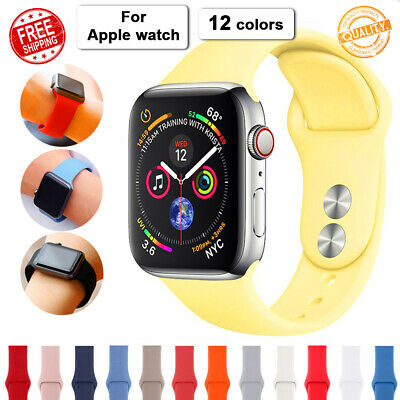 $ CDN6.75 • Buy APPLE WATCH Series 5 4 3 2 Sport Silicone Rubber Bracelet Strap Band Iwatch New