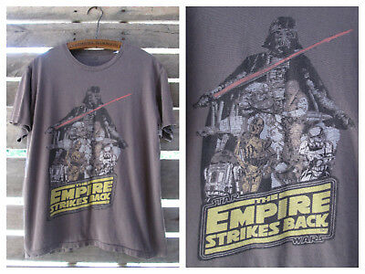 $7.99 • Buy Star Wars The Empire Strikes Back Brown Tee T-Shirt Large