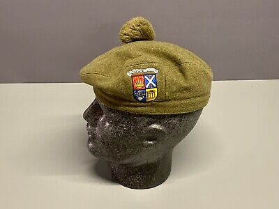 British Army-Issue Dundee School CCF Tam O Shanter & Badge. Size 55cm. • 22.99£