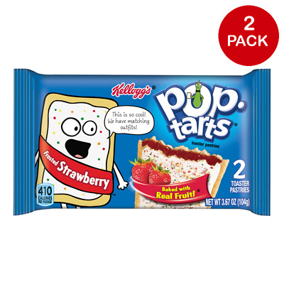 American Pop Tarts - Frosted Strawberry - Twin Pack - 3.67oz (104g) - 2 Pack • 2.20£