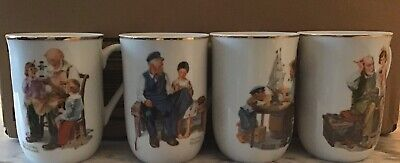 $ CDN7.02 • Buy Vintage Norman Rockwell Mugs. 1982 Norman Rockwell Museum Stamp. Set Of Four