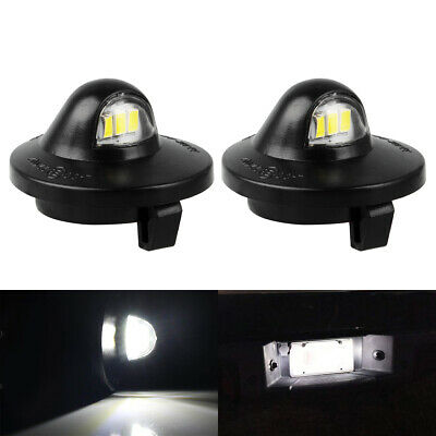 $12.49 • Buy 2x LED License Plate Light Lamp Assembly Replacement For Ford F150 F250 F350 New