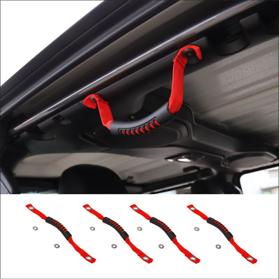 $18.71 • Buy Fit For 2020 Jeep Gladiator JT Red Front & Rear Roll Grab Handles Off Road