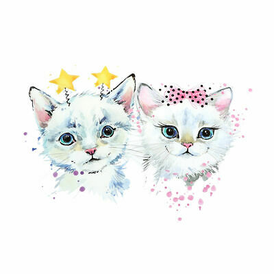 £2.25 • Buy Cute Kittens Deely Boppers Bow   A5  Iron On T Shirt Transfer