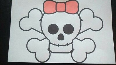 £2.25 • Buy CUTE SKULL AND CROSSBONES No 4 A5  IRON ON TRANSFER
