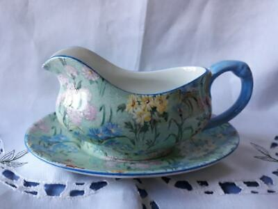 Vintage Shelley 'Melody' Sauce Boat And Stand - In Beautiful Condition • 60£