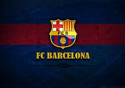 £3.99 • Buy FC Barcelona Football Club Poster Glossy Paper 200 Gsm Size A1 A2 A3 A4