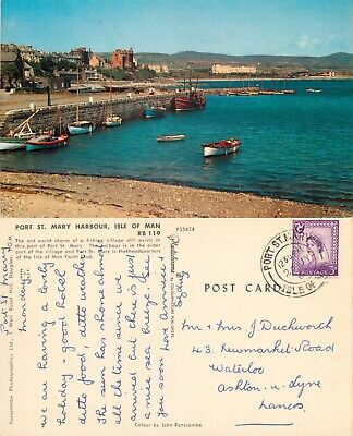 £1.19 • Buy S15935 Harbour, Port St Mary, Isle Of Man Postcard 1964 Stamp *COMBINED SHIPPING