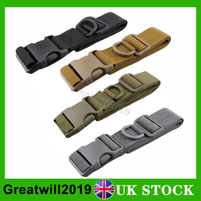 Quick Release Buckle Military Trouser BELT Army Tactical Canvas Webbing Black • 4.59£