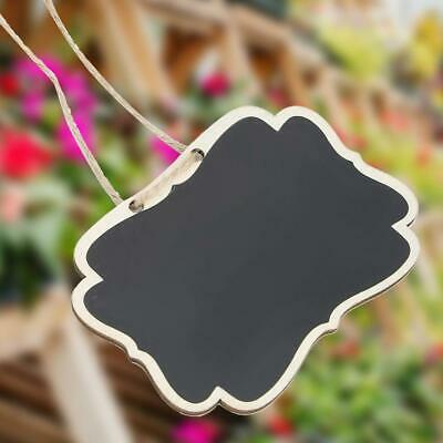 £3.30 • Buy 20x Blackboard Chalk Board Wood Plant Labels Craft Sign Marker Name / Price Tags