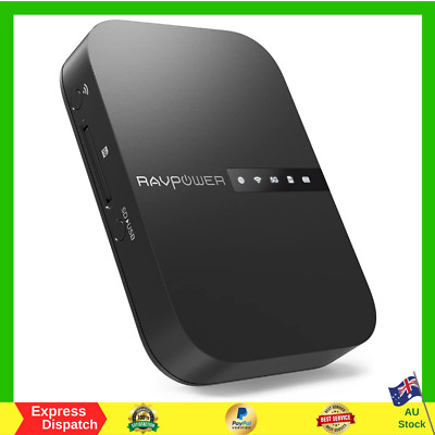 AU89.25 • Buy RAVPower FileHub Wireless Travel Router AC750 Portable SD Card HDD Backup NEW AU