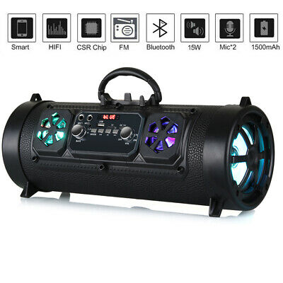 £27.95 • Buy Portable Wireless LED Bluetooth Speakers Stereo Loud Bass Subwoofer USB TF AUX