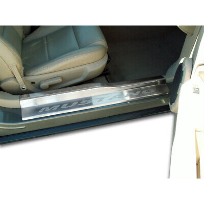 $149.95 • Buy Brushed Stainless Door Sill Trim Kit W/Etched 'Mustang' For 05-09 Mustang V6/GT