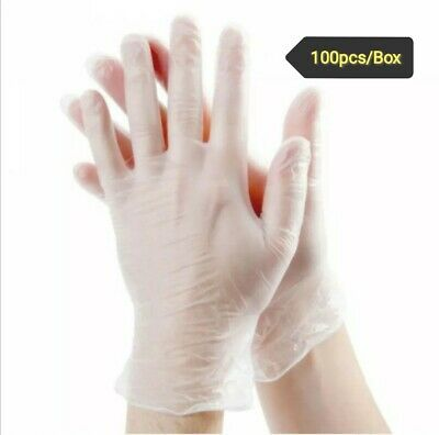 AU16.85 • Buy 100pcs Medicom Clear Vinyl Disposable Gloves Powder Free / Powdered Glove AU