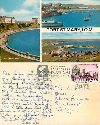 £1.19 • Buy S16121 Multiview, Port St Mary, Isle Of Man Postcard 1983 Stamp *COMBINED SHIP