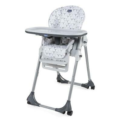 Chicco Polly Easy Highchair 4Wheel (Verdant) - Multiple Heights • 69£