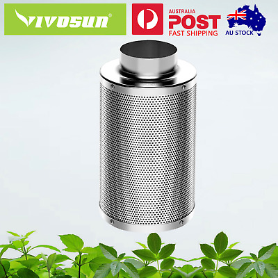AU59.98 • Buy VIVOSUN 4  6  8  Inch Carbon Filter Odor Control For Fan Grow Tent Hydroponics