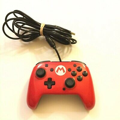 $14.99 • Buy PDP Super Mario Red Faceoff Nintendo Switch Wired Pro Controller (Tested)