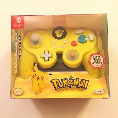 $19.99 • Buy PDP Nintendo Switch Pokemon Pikachu Gamecube Style Wired Pro Controller (Tested)