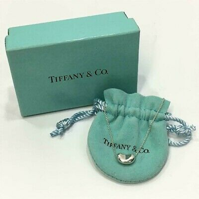 £78.45 • Buy Auth TIFFANY & Co. Elsa Peretti Bean Pendant Necklace Sterling Silver 925 *DHL*