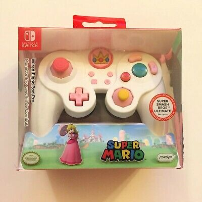 $24.99 • Buy PDP Nintendo Switch Super Mario Princess Peach Wired Fight Pad Pro Controller