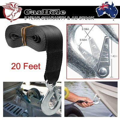 AU19.99 • Buy Boat Trailer Winch Strap 20 Feet With Hook Replace Heavy Duty 3300-10000 Lbs AU
