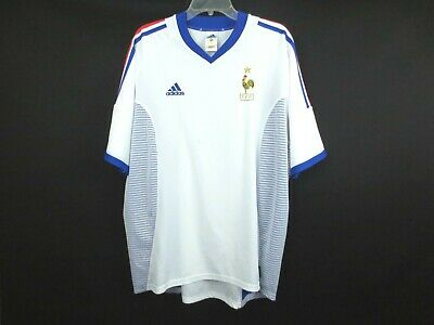 $2.25 • Buy Rare ADIDAS FRANCE 2001 Soccer Shirt Jersey Men's X-Large