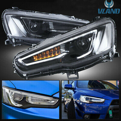 AU569.99 • Buy For [Mitsubishi Lancer Headlights] 2008-2017 LED DRL W/ Sequential Turn Signal