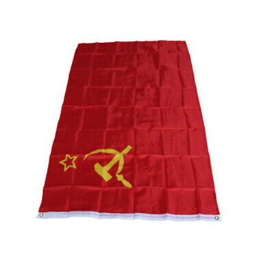 Union Of Soviet Socialist Banner Red Cccp Russian Republics Ussr Flag 3x5' Feet • 5.89£