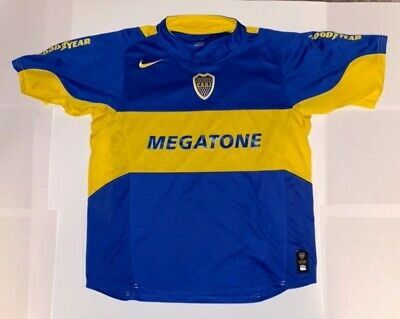 $25 • Buy Nike CABJ Boca Juniors Soccer Jersey Megatone & Goodyear Men's L Dry Fit