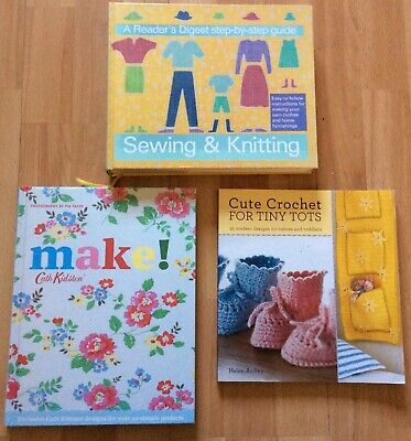 X 3 Sewing And Knitting /Crochet / Craft Books - Learn A New Skill ! • 3£