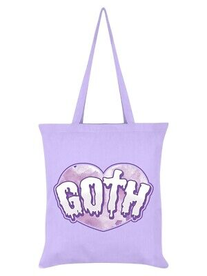 £6.95 • Buy Pastel Goth Tote Bag Lilac -  Pink Heart Purple Shopping Sac Gothic Horror Emo