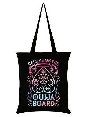 £6.95 • Buy Call Me On The Ouija Board Tote Bag Black Witch Funny Pentagram Wicca Goth Emo