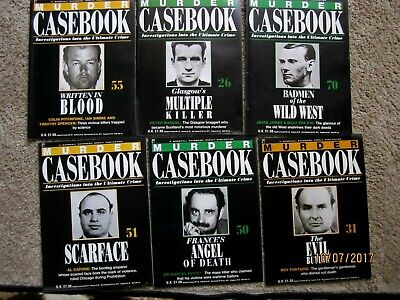 Murder Casebook X 6 Crime Magazines,scarface • 3.99£