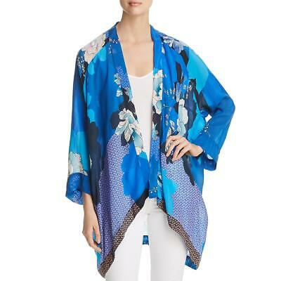 $165 • Buy Johnny Was Womens Dolce Blue Floral Layering Cardigan Kimono Jacket S BHFO 2162
