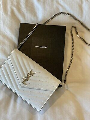 AU1980 • Buy YSL White Wallet On Chain