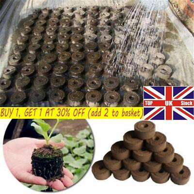 1/5/10 Pcs Peat Pot Pellets Seed Propagation Compost Plug Hydroponic Organic UK • 3.99£