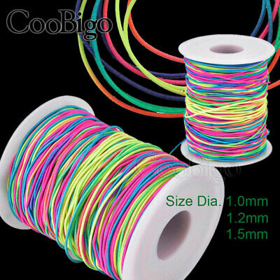 $ CDN13.88 • Buy 100M Strong Stretch Elastic Cord Wire 1~1.5mm Rope Bracelet Necklace String Bead