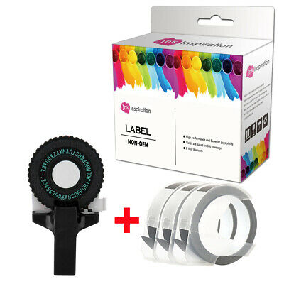 Black Embossing Maker Letters +black Lable For DYMO Printer Refill Tapes • 12.98£