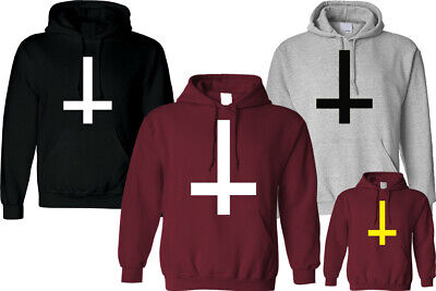 Inverted Cross Hoodie Inspired Unisex Funny Hipster Fashion  Christmas Top Gift • 13.49£