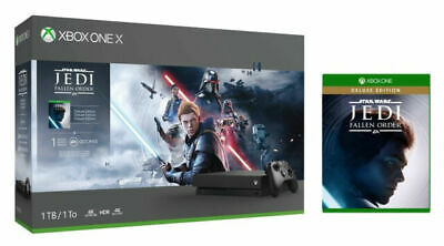 $285 • Buy Microsoft Xbox One X 1TB Star Wars Jedi: Fallen Order Bundle